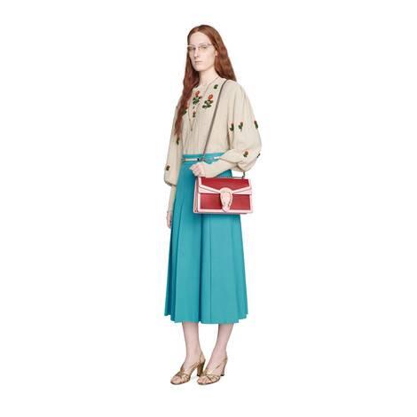 双G链条褶裥半身裙