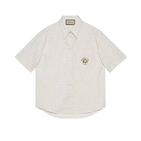 Gucci花椰菜格纹衬衫