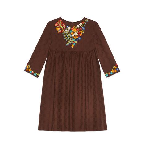 儿童GG提花棉质连衣裙