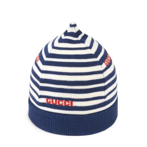 儿童Gucci条纹羊毛帽