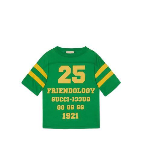 """儿童1921""""Friendology""""印花T恤"""