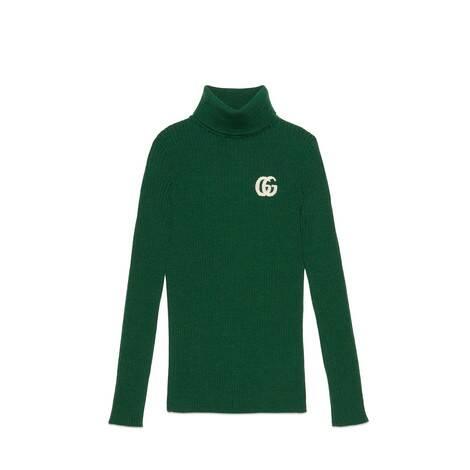 儿童GG羊毛高领衫